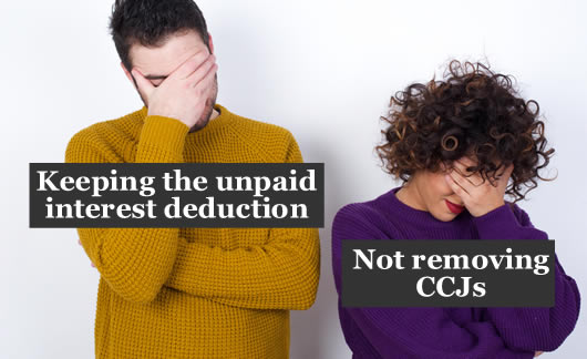 A couple both facepalm over Amigo's Scheme. Why not get rif of the unfair unpaid interst reduction? and remove CCJs?