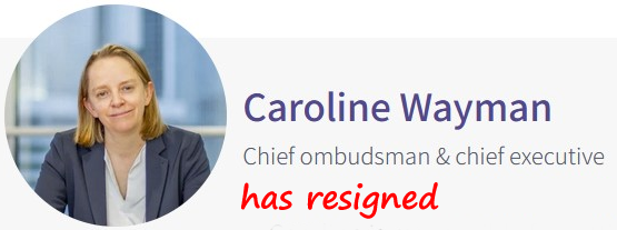 Photograph of Caroline Wayman, Chief Ombudsman and CEO at the Financial Ombudsman service who resigned in March 2021