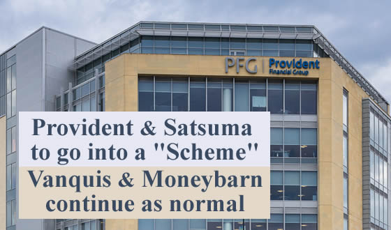 Provident's Bradford headquarters - in March 2021 PFG has proposed that it will cap refunds to Provident home credit and Satsuma customers in a Scheme - Vanquis & Moneybarn will not be part of Scheme