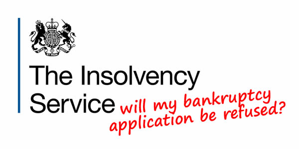 The Insolvency Service logo - will they refuse your bankruptcy application?