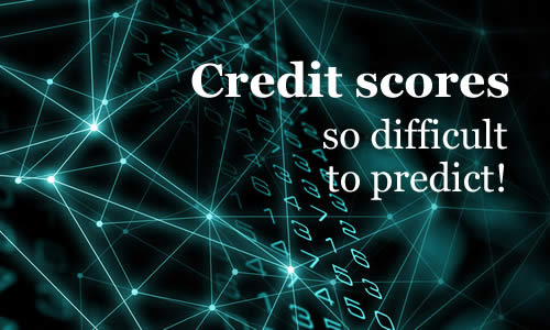 data nodes and numbers - credit scores are so difficult to predict