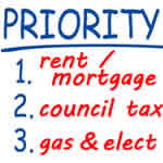 Divide your debts into priority and non-priority