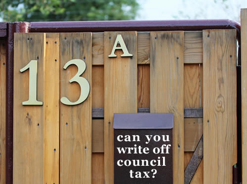 A gate with the number13A - a Section 13A application is a way to get council tax written off.