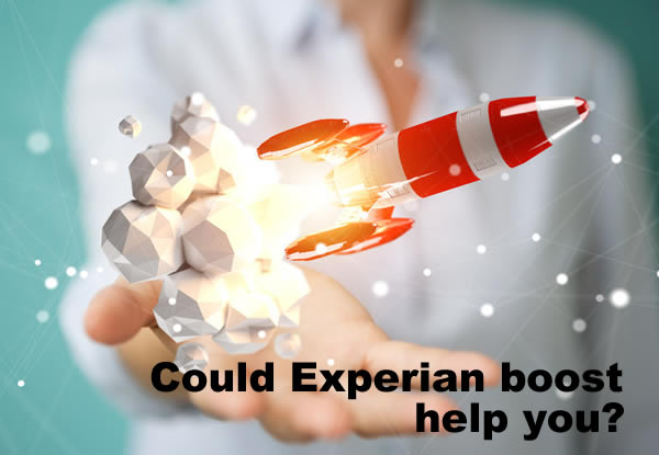 A small red rocket taking off from a woman's hand - could using Experian's Boost facility really increase your credit score?